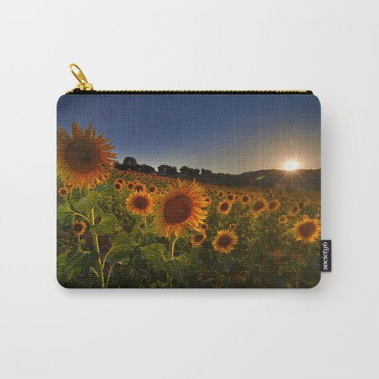 """""""Sunflowers following the sun"""" Carry-All Pouch"""