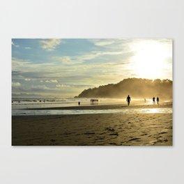 Beach sunset in Costa Rica Canvas Print