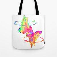 atlas Tote Bags featuring ATLAS by DIZYGOTIK