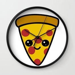 Kawaii Pizza Wall Clock