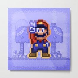 Peace Mario Metal Print