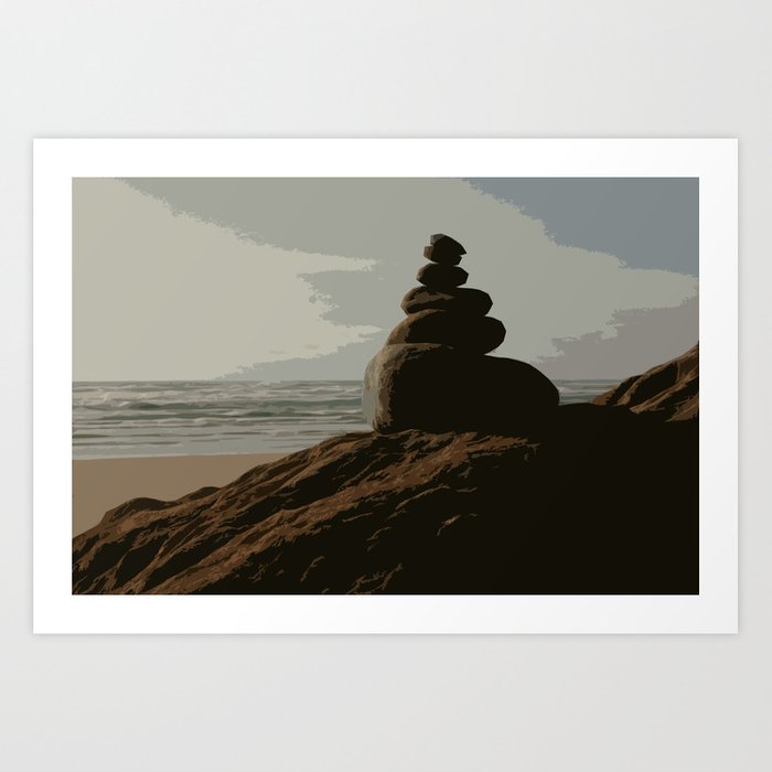 Stacked Rocks Art Print By Astronomicaldreamer Society6