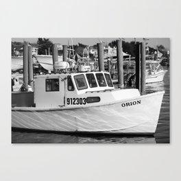 At The Harbor Canvas Print