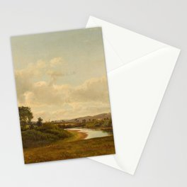 Lancaster New Hampshire Farmland 1867 By David Johnson | Reproduction | Romanticism Landscape Painte Stationery Cards