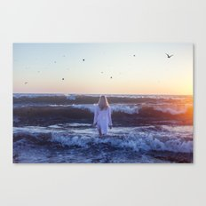 I go, peacefully, into the fray Canvas Print