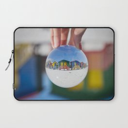 Changing Rooms at the Beach Laptop Sleeve