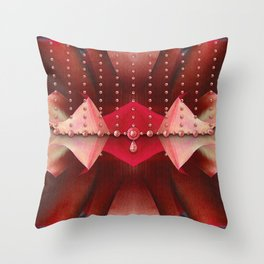 Beaded Evening Bag Throw Pillow