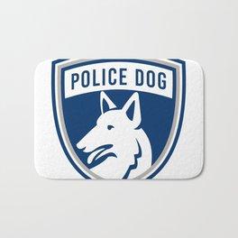 Police Dog Shield Mascot Bath Mat
