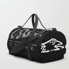 Join or die - white on black version Duffle Bag