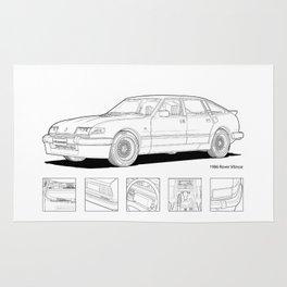 Rover Vitesse 1986 Illustration Rug