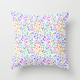 The Growth of Rainbow Leaves Throw Pillow