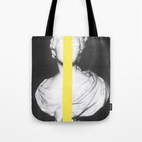 chad wys Tote Bags featuring Corpsica 6 by Chad Wys