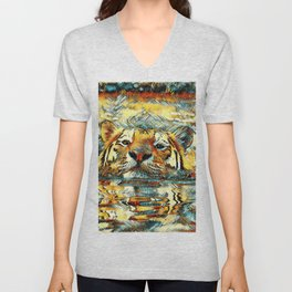 AnimalArt_Tiger_20170601_by_JAMColorsSpecial Unisex V-Neck