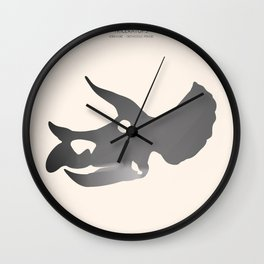 Triceratops Wall Clock
