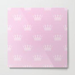 Princess Charlotte Pink- Royal Princess Rose Crowns Metal Print
