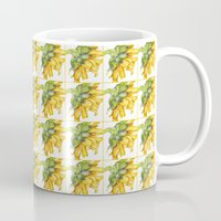 sunflower Mugs featuring Sunflower by Cindy Lou Bailey
