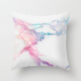 Unicorn Vein Marble Throw Pillow
