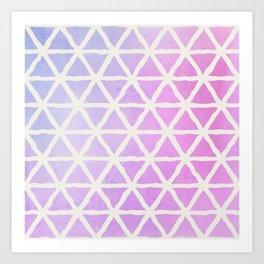 Watercolor Geometric Pattern 3 Art Print