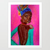 african Art Prints featuring African by Ksuhappy