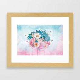 FLORAL EVA Framed Art Print