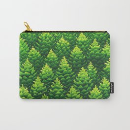 Evergreen Trees Watercolor Painting Carry-All Pouch