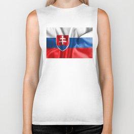 Slovakia Flag Biker Tank