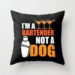 Bartender Bartending Drink Mixer Gift Throw Pillow