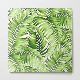 Greenery palm leaves Metal Print
