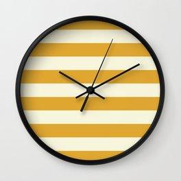 Yellow Stripes Bold Wall Clock