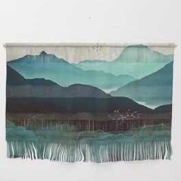 Indigo Mountains Wall Hanging