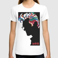 MORRISSEY (after Glaser) Womens Fitted Tee White MEDIUM