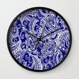 paisley batik Wall Clock