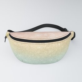 Pink Gold Mint Glitter Ombre Luxury Design Fanny Pack