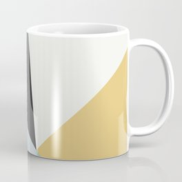Broken Glass, blue & yellow, abstract graphic Coffee Mug