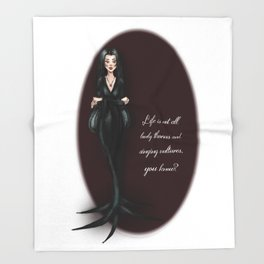 Morticia Throw Blanket