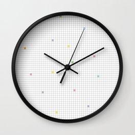 Checked Pattern_M Wall Clock