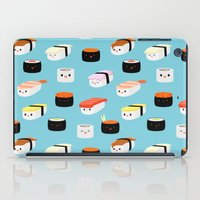 sushi iPad Cases featuring Sushi! by Sara Showalter