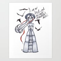 jane eyre Art Prints featuring Jane Eyre by Natalie Easton