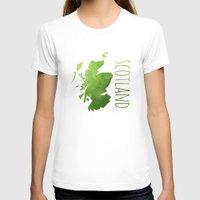 scotland T-shirts featuring Scotland by Stephanie Wittenburg