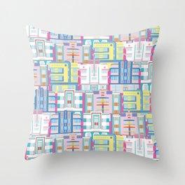 Miami Art Deco Landmarks Throw Pillow