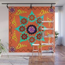 Talavera Tile Orange Wall Mural