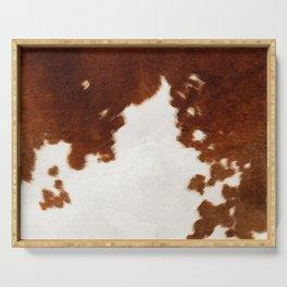 brown cowhide watercolor Serving Tray