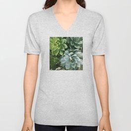 Succulent Succulents Unisex V-Neck