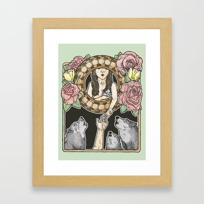 an offering to the wolves Framed Art Print