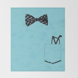 Bow tie and pocket Throw Blanket