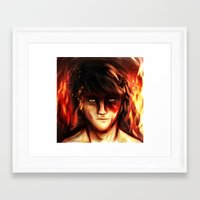 zuko Framed Art Prints featuring Fire Lord Zuko by malfunction321