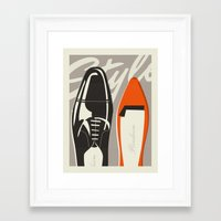 shoes Framed Art Prints featuring Shoes by justin skeesuck