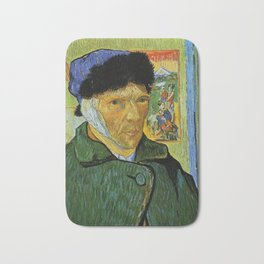 Self Portrait with Bandaged Ear by Vincent van Gogh Bath Mat