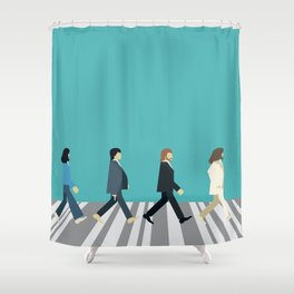 The tiny Abbey Road Shower Curtain
