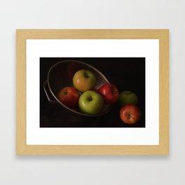 Colander Apples II Framed Art Print